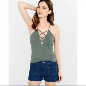 Berry One Eleven Criss Cross Tank